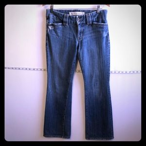 Gap curvy low rise boot cut denim jeans EUC 6A